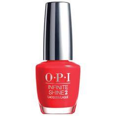OPI Infinite Shine 0.5 oz ISL08 Unrepentantly Red. INFINITE SHINE - Gel Effects Lacquer System. You are in know   PRIME. LACQUER. GLOSS. 3 Easy Steps   NO LED OR UV LIGHT   SHINE LASTS UP TO 10 DAYS   REMOVES LIKE OPI LACQUER   30 OPI SHADES PLUS MANY MORE TO COME IN 2015