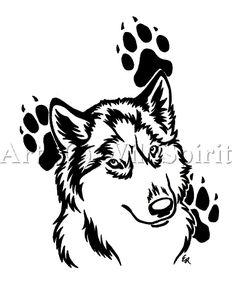 wolf paw print drawings | Ðề tài: Tribal Wolf