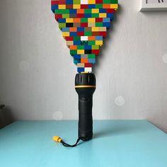 Disco flashlight. A Lego Duplo disco flashlight art installation and sculpture.    #disco #flashlight #discolights #laser #lightart #duplo #lego