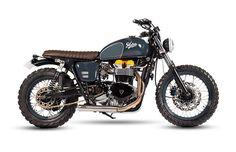 Beautiful Triumph Bonneville Scrambler by Maria Motorcycles #motorcycles #scrambler #motos | caferacerpasion.com