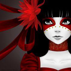 Crimson Lotus Flower by *Akmona on deviantART
