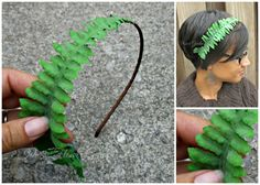 Items similar to Realistic Fern headband, Fairy, woodland hair accessory, forest fairy on Etsy decorating fashion gifts flowers handmade wrapping halloween cards headbands rugs valentines cards gift diy gifts Grown Out Bangs, Crea Cuir, Poison Ivy Costumes, Head Band, Fantasy Costumes, How To Wear Scarves, Diy Costumes, The Conjuring, Crafts To Do