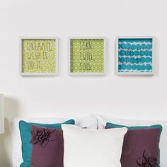 Umbra Wall Art   Umbra // cool fabric, vinyl on glass frame or ironed onto fabric.