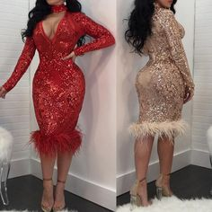 Sexy Sequins Crochet Bodycon Dress