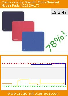 Compucessory Smooth Cloth Nonskid Mouse Pads (CCS23617) (Office Product). Drop 78%! Current price C$ 2.49, the previous price was C$ 11.58. http://www.adquisitiocanada.com/compucessory/economy-mouse-pad-12-eapk