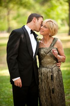mother and son- adorable- I want my mother to wear something like this at my wedding some day!