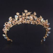 2016 New Fashion Magnificent Silver Crystal Bridal Tiaras with Flower Wedding Crown for Bride Wedding Pageant hair Accessories(China (Mainland))