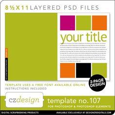 Cathy Zielske's Layered Template No. 107 - Digital Scrapbooking Templates - Cathy Zielske