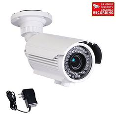Special Offers - VideoSecu Built-in 1/3 Sony Effio CCD Bullet 700TVL High Resolution Day Night Vision Outdoor 42 IR Infrared LEDs Varifocal Lens Security Camera for CCTV DVR Surveillance System with Free Power Supply BTZ - In stock & Free Shipping. You can save more money! Check It (May 12 2016 at 05:12AM)…