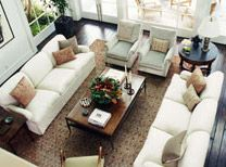 Some of the best seating arrangements include facing sofas!