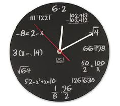 "Have your students create their own ""mathematician"" clock at their own level and write an algebra expression for each number on the clock!"
