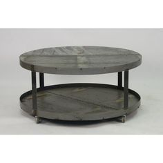 Recycled metal rolling coffee table by Zentique