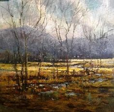 """""""Winter Stream""""  Pastel painting by Aiden Butler"""