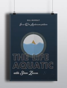 The Life Aquatic with Steve Zissou - Poster by Mario Petkovski on Behance competition Life Aquatic, Competition, Mario, Creativity, Behance, My Favorite Things, Poster, Pictures, Photos