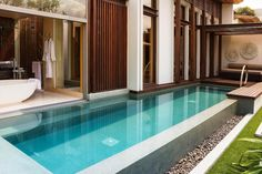 Inspirations Modern And Exotic Resort Pool Design Ideas Amazing Resort Design In Mountain With City View Equipped Outdoor Swimming Pool Swimming Pool House, Small Swimming Pools, Luxury Swimming Pools, Luxury Pools, Small Pools, Swimming Pool Designs, Outdoor Swimming Pool, Indoor Pools, Small Indoor Pool