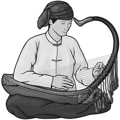 トルンの奏者。 トルン (trung)は ベトナムの民族楽器。音が出る部分も、枠組みも竹でできている。 | 楽器 ...