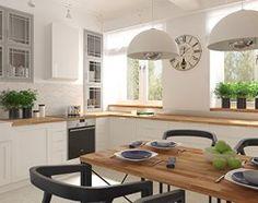 Mieszkanie w budynku z lat 40-tych - Średnia otwarta kuchnia w kształcie litery l w aneksie, styl vintage - zdjęcie od MIKOŁAJSKAstudio