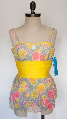 Retro Vintage Bobbie Brooks Swimsuit/Vintage Swimsuit/Vintage Onepiece/1960 NOS Swimsuit by Reilvintage on Etsy https://www.etsy.com/listing/464142344/retro-vintage-bobbie-brooks