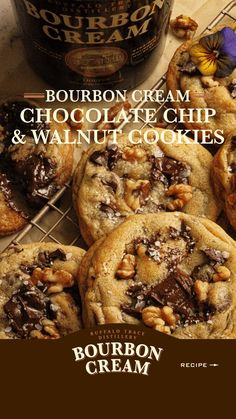 Cookie Desserts, Just Desserts, Cookie Recipes, Delicious Desserts, Yummy Food, Tasty, Chocolate Chip Walnut Cookies, Best Chocolate Cookie Recipe, Chocolate Chip Recipes