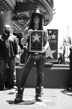 Slash..... Hollywood Walk of Fame 2012. Looks like I'll be stopping for a pic here in January.