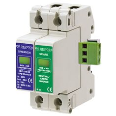 A1SPM/40/230NR - 40kA Single Phase with N/E Module & Remote Connector - Type 2 Test Class II - This modular #surgeprotection #device provides #protection of equipment connected to incoming low voltage AC power supplies against the damaging effects of transient over voltages caused by local #lightning strikes, or the switching of electrical inductive or capacitive loads.