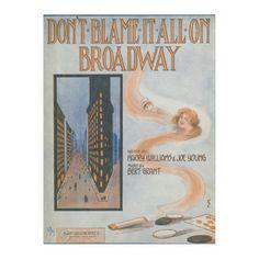 Don't Blame It All On Broadway Fleece Blanket