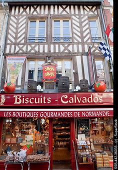 France, Normandy, Honfleur, Shop Selling Traditional Local Produce #Normandie