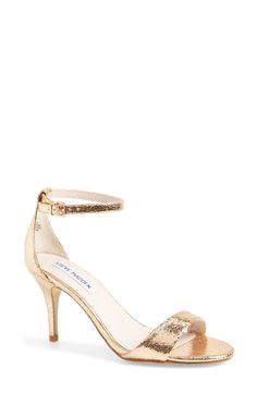 Love these rose gold ankle strap sandals | Steve Madden.