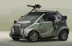 Concept vehicles by Darren Bartley armored smart car