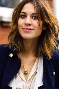 Cortes de pelo para cara ovalada: fotos de los looks - Alexa Chung look