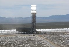 """9.25.13 - Giant California solar tower lights up -""""In addition to Ivanpah, before the end of the year SolarReserve's Crescent Dunes plant in Nevada, which comes with molten-salt energy storage, is expected to begin producing energy as well."""""""