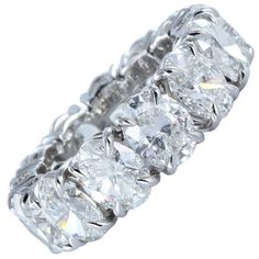 Brilliant 9.64ctw Oval Diamond & Platinum Eternity Band. Is it too ostentatious?  Nah! #rings $85,000