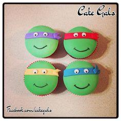 Ninja Turtles fondant cupcake toppers on Etsy, $10.00