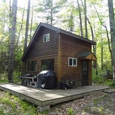 Tiny Secluded Home w/ Acreage; Very Secluded Cabin with a loft on nicely wooded 9.5 acres! 288 Sq. Ft. Beecher, Wisconsin (pinned by haw-creek.com)