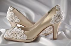 Wedding Shoes  Custom 120 Color Choices PBT-0826A by Pink2Blue