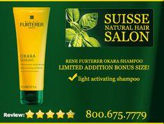 Rene Furterer OKARA Conditioner, on sale now at Suisse Natural Hair Salon Natural Hair Salons, Natural Hair Styles, Bleached Hair, Hair Repair, Hair Shampoo, Hair Conditioner, Boston, Vitamins, Moisturizer