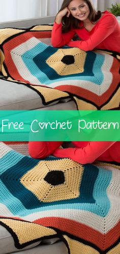 This unusual five-sided design is fun to crochet! I hope you have enjoyed this beautiful crochet, … Crochet Feather, Crochet Stars, Cute Crochet, Beautiful Crochet, Crochet Hooks, Crochet Baby, Crotchet Patterns, Afghan Crochet Patterns, Crocheted Afghans