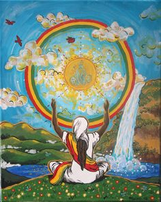 Meditate pon JAH Glory Rastafari Ethiopian Eden by Ilive2loveJAH, $200.00