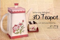 Under A Cherry Tree: Lettering Delights' 3D Teapot Cut It Set