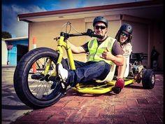 Motorized Drift Trikes   SABSLIDER   Crazy Tandem & Single Sliders - YouTube
