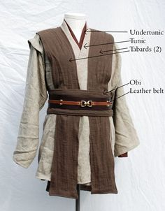 How to Jedi robe! Perfect for this years movie event (and forgiving for new mom - Jedi Costume - Ideas of Jedi Costume - How to Jedi robe! Perfect for this years movie event (and forgiving for new moms who are trying to get their bodies back together). Cosplay Star Wars, Costume Star Wars, Jedi Cosplay, Cosplay Costumes, Jedi Tunic, Jedi Robe, Star Wars Jedi, Costume Jedi, Traje Jedi