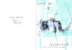 Free printable cards from Free People.