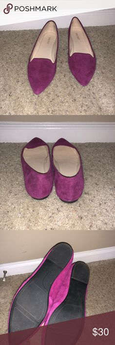 fdac435cf7f Magenta Flats Magenta pointy toed loafers The color is a dark magenta