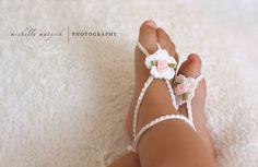 Baby Barefoot Sandals Baby Crochet Sandals Newborn Photo