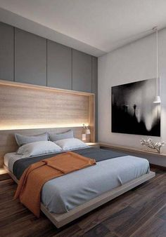 nobody wants a sad bedroom // bedroom // interior //home decor // city suite // urban living // urban men // city life // home // wall painting //