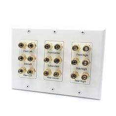 18 Port Banana Binding Post Home Theater system Speaker Wall plate For USA
