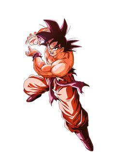 Goku Kaioken render 5 by on DeviantArt Goku Vs Frieza, Gogeta And Vegito, Dbz Characters, Z Arts, Batman Art, Son Goku, Illustrations, Anime Art, Saga