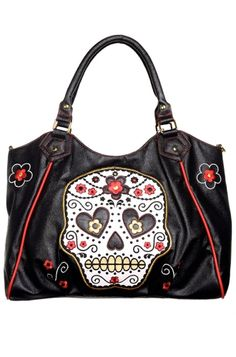 Banned Sugar Skull Handbag 28 99 Skulls Candy Alternative Arel