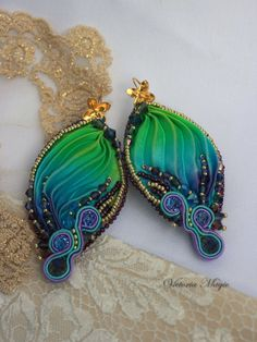 Hey, I found this really awesome Etsy listing at https://www.etsy.com/listing/398663151/soutache-and-shibori-earrings-glamour