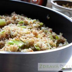 porkovy bulgur Fried Rice, Quinoa, Fries, Side Dishes, Ethnic Recipes, Diet, Bulgur, Nasi Goreng, Stir Fry Rice